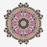 Stylized Oriental Print. Mandala like Symmetrical Stock Photography