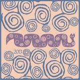 Stylized orm ett symbol av året Arkivbilder