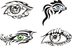 Stylized ornamental eyes Royalty Free Stock Photos