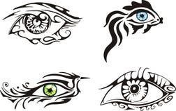 Stylized ornamental eyes Royalty Free Stock Photos