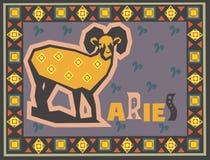 Stylized and ornamental Zodiac Royalty Free Stock Photos