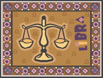 Stylized and ornamental Zodiac Royalty Free Stock Image