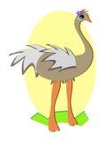 Stylized Ostrich Royalty Free Stock Photos