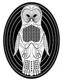 Stylized owl with patterned body surfaces Royalty Free Stock Photos