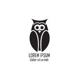 Stylized owl on white background Royalty Free Stock Photo
