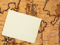The stylized page. On the order ancient map with an empty place for your photo Royalty Free Stock Photo