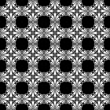 Stylized Fan Tiles Seamless Texture. Stylized palm leaf tiles on square distribution. Classical radiating motif, common in Egyptian, Greek and Assyrian ancient Stock Image