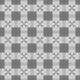 Stylized Grey Tiles Seamless Texture. Stylized palm leaf tiles on square distribution. Classical radiating motif, common in Egyptian, Greek and Assyrian ancient Royalty Free Stock Photos