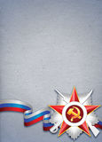 Stylized paper background for Defender of Fatherland or Victory day Royalty Free Stock Image