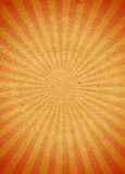 Stylized paper orange striped background with vignette Royalty Free Stock Images