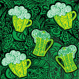 Stylized pattern with beer Royalty Free Stock Photos