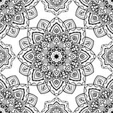 Stylized pattern of mandalas. Vector seamless pattern of mandalas. Oriental ornament. Template for textiles, wallpaper, shawls, carpets, wrapping paper Stock Images