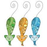 Stylized patterned illustration of cat Stock Image