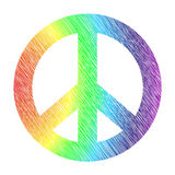 Stylized peace symbol royalty free stock photos