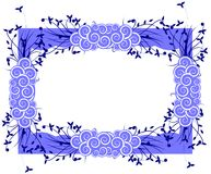 Artistic Floral frame isolated in blue. Artistic image with flowers, ideal for flyers or posters background or greeting cards Royalty Free Stock Photos