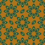 Stylized peacock feather seamless pattern vector Royalty Free Stock Image