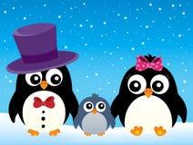 Stylized penguin family image 2 Stock Photo