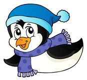 Stylized penguin topic image 4 royalty free stock images