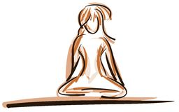 Stylized person in Meditation pose isolated Royalty Free Stock Image