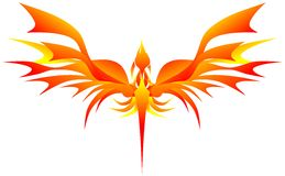 Stylized phoenix Stock Photos