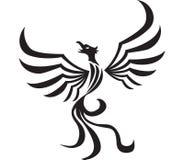Stylized phoenix tattoo. Illustration of Stylized phoenix tattoo Royalty Free Stock Photography