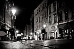 Stylized photo of the city's old street Stock Image