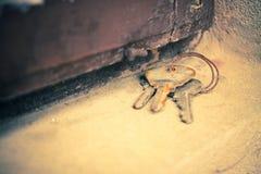 Stylized photo of old keys Royalty Free Stock Image
