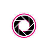Stylized photography logo. In pink and black Stock Image