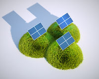 Stylized photovoltaic Stock Photos