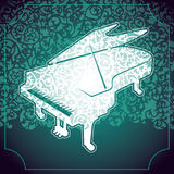 Stylized piano. Stock Photography