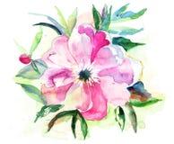 Stylized Pink flower Stock Photo