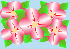 Stylized pink flowers Stock Images