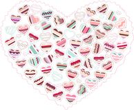 Stylized pink heart made of hearts  isolated Royalty Free Stock Photography