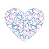 Stylized pink heart vector illustration Royalty Free Stock Photography