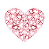 Stylized pink heart vector illustration Royalty Free Stock Image