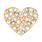 Stylized pink heart vector illustration Royalty Free Stock Images