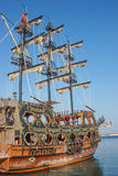 Stylized pirate ship 1. Stylized decorated pirate ship in Didim city, Turkey Stock Image