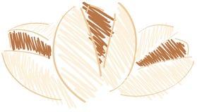 Stylized pistachios isolated illustration Royalty Free Stock Photography