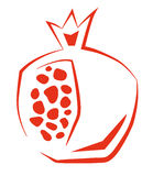 Stylized Pomegranate Stock Image