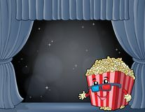 Stylized popcorn theme image 7 Stock Photography