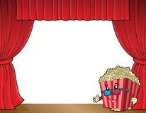 Stylized popcorn theme image 2. Eps10 vector illustration Royalty Free Stock Image