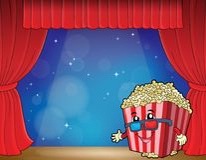 Stylized popcorn theme image 3. Eps10 vector illustration Stock Image