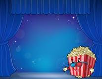 Stylized popcorn theme image 5 Royalty Free Stock Photo