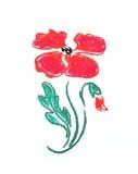 Stylized poppy flower Royalty Free Stock Photos