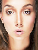 Stylized portrait beauty young classic woman Royalty Free Stock Photos
