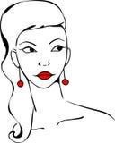 Stylized portrait of a girl model Stock Photography