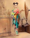 Stylized portrait of a Japanese geisha Stock Image