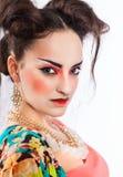 Stylized portrait of a Japanese geisha Stock Images