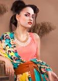 Stylized portrait of a Japanese geisha Royalty Free Stock Photography