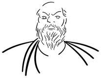 Stylized portrait of Socrates isolated Stock Images